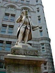 Ben Franklin statue at Old Post Office