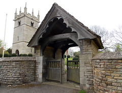 Church of St Andrew, Boothby Pagnell, Lincolnshire, England - lych gate
