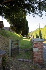 All Saint's Church Chillenden Kent England - gate and path to churchyard