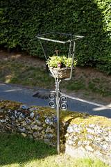 All Saint's Church Chillenden Kent England - churchyard fence planter
