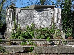 All Hallows Church Tottenham London England - churchyard chest tomb overgrown 8