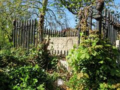 All Hallows Church Tottenham London England - churchyard chest tomb overgrown 7