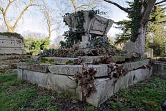 All Hallows Church Tottenham Haringey England - churchyard sarcophagus-style monument