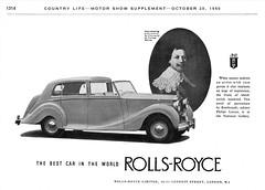 1951 Rolls-Royce Ad