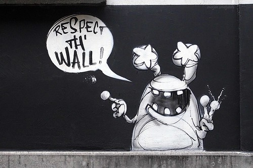"""Respect th' wall!"" (Jamz), Street Art Ghent, Belgium"