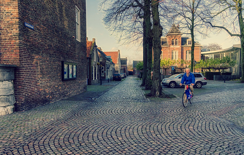 Cycling in Oirschot, Noord-Brabant.