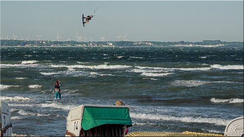 Kiteboarding on the Baltic Sea