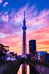 Skytree sunset