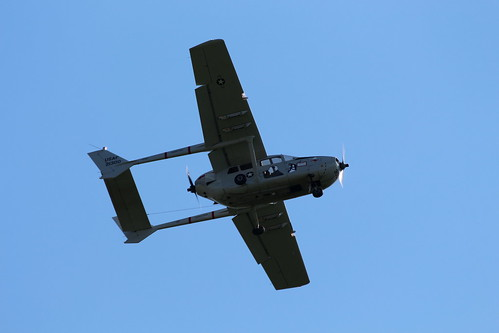 2019-08-24; 0500. Cessna O-2A Super Skymaster (1967), N590D, 21300. Wings of Freedom, Ede.