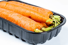 Fresh young carrots. Vegetables for a healthy diet