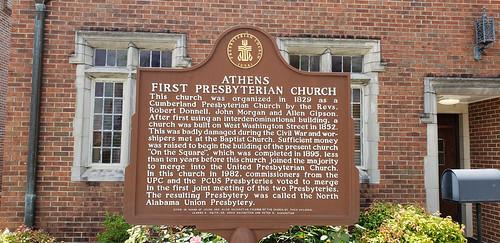 Athens First Presbyterian Church Historical Marker