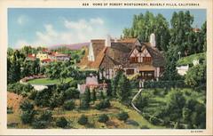 Home of Robert Montgomery Beverly Hills California Vintage Postcard