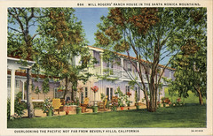 Will Rogers Ranch House in the Santa Monica Mountains Vintage Postcard