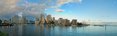 Ala Wai Harbor and Waikiki
