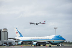 United States Air Force One and The Japanese Air Force 2 Pearl Harbor Hickam