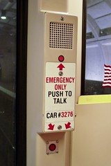 Emergency intercom on car 3276