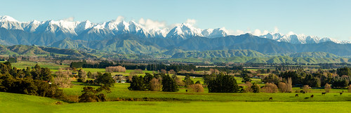 Snow capped Tararua Ranges