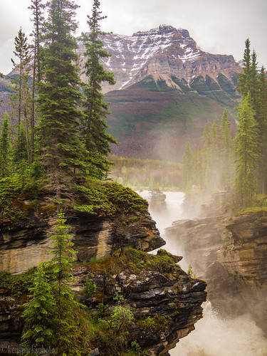Athabasca Falls and Mt. Hardisty