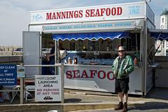 Bayside seafood stall at Margate Kent England