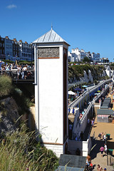 Beach lift from promenade at Broadstairs Kent England