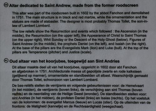 Luik, Wallonië, église St.-Jacques, altar of St. Andrew, info