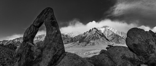 Whitney Portal Arch and Lone Pine Peak in The Alabama Hills