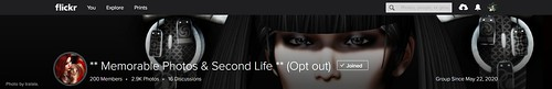 ** Memorable Photos & Second Life ** (Opt out)