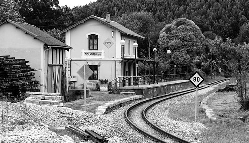 Spain - Asturias - Colombres - Train Station
