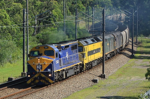 C502 + G511 + 44206 & 44204 SSR EMPTY COAL TO NEWSTAN COLLIERY - FASSIFERN 4th Feb 2012