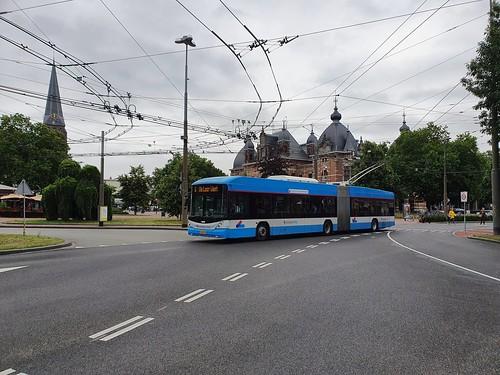 Breng Trolley 5225 als lijn 6 naar de Laar West op Velperplein in Arnhem  04-07-2920