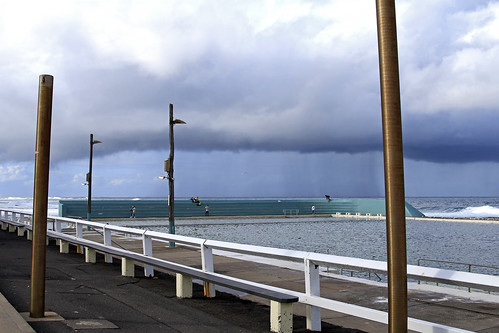 Stormy Newcastle Baths