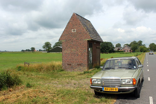 PEB transformer house and 1983 Mercedes-Benz 230E