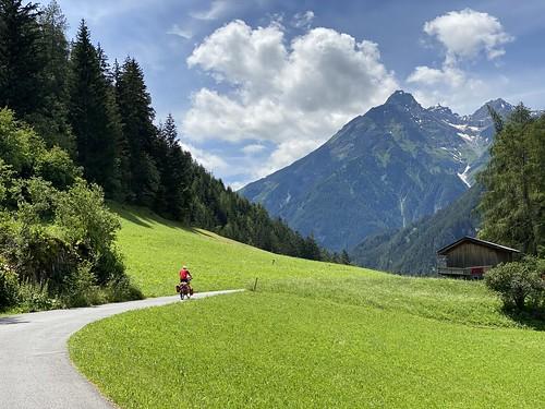 Einsamer Radfahrer