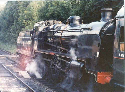 "SR Maunsell N Class 2-6-0 31874 ""Brian Fisk"" Alresford July 1980"