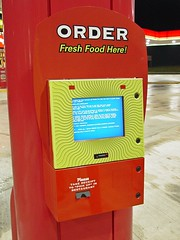 Blue Screen of Death on Sheetz outside ordering kiosk