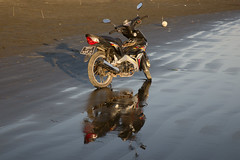 Motorbike on the beach
