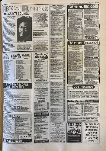 NME, 7 September 1985. #NME  #MyLifeInTheUKMusicPress #1985