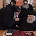 الراهب القمص فانوس الأنبا بولا مع الأنبا كيرلس أسقف ورئيس دير مارمينا مريوط (5)
