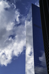 Clouds reflected in 4 World Trade Center