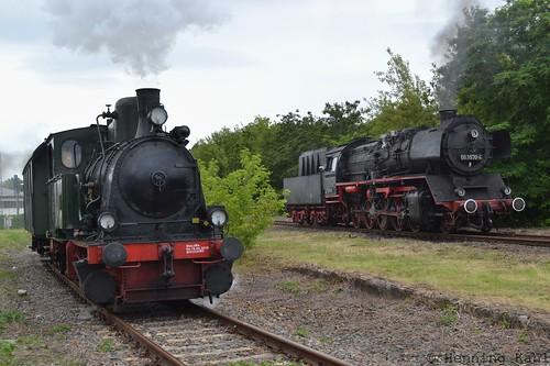 Lok No.2 Emma und 50 3570-4 in Wittenberge