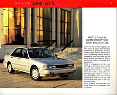 1989 Dodge 2000 GTX (Canada)