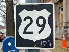 US 29 shield on Rhode Island Avenue NW [02]