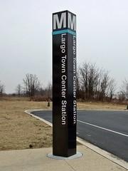 Largo Town Center station entrance pylon [03]