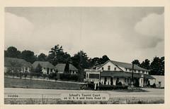 Schoof's Tourist Court, circa 1950 - Kingsbury, Indiana