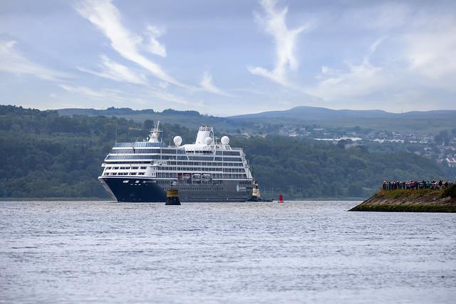 'Azamara Journey', River Clyde, Dumbarton