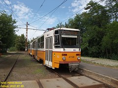 Tatra T5C5K2 4158 Budapest-Kamaraerdő, 2019. 07. 09.