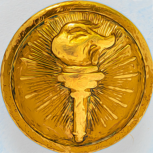 Old Brass Button