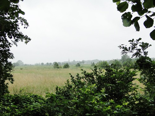 View to Voorst village from the IJssel river dike