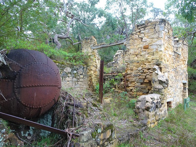 Photo:Talisker silver mine. Near Cape Jervis. This  boiler was part of the Enginehouse next to the crushing plant. Built in 1865.  The mine closed in 1872. . By denisbin