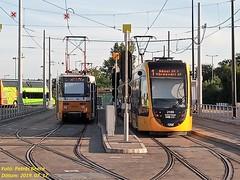 Tatra T5C5K2 4058 + CAF Urbos 3 2103 + FLIXBUS Budapest-Kelenföld, 2019. 07. 17.